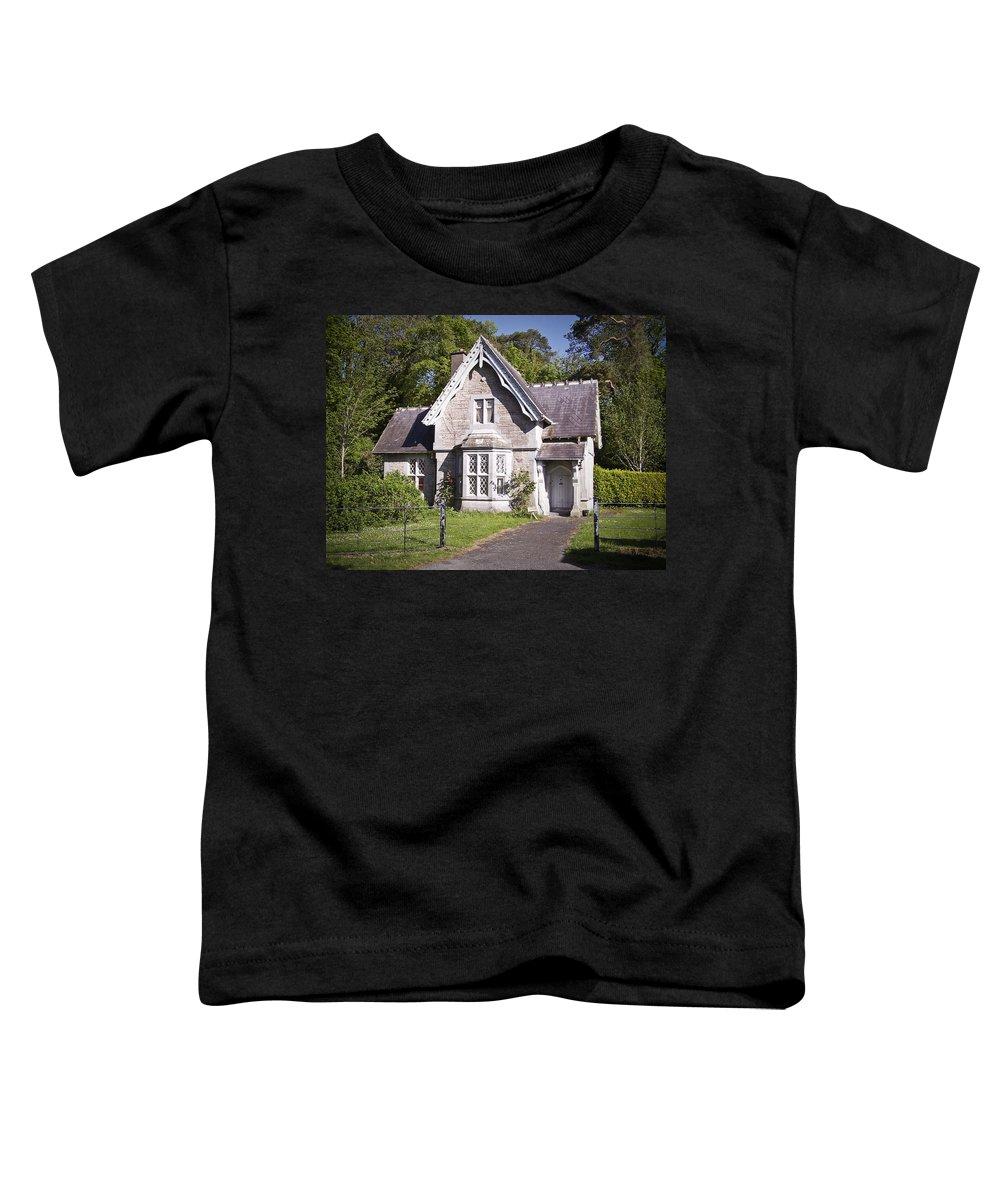 Irish Toddler T-Shirt featuring the photograph Muckross Cottage Killarney Ireland by Teresa Mucha