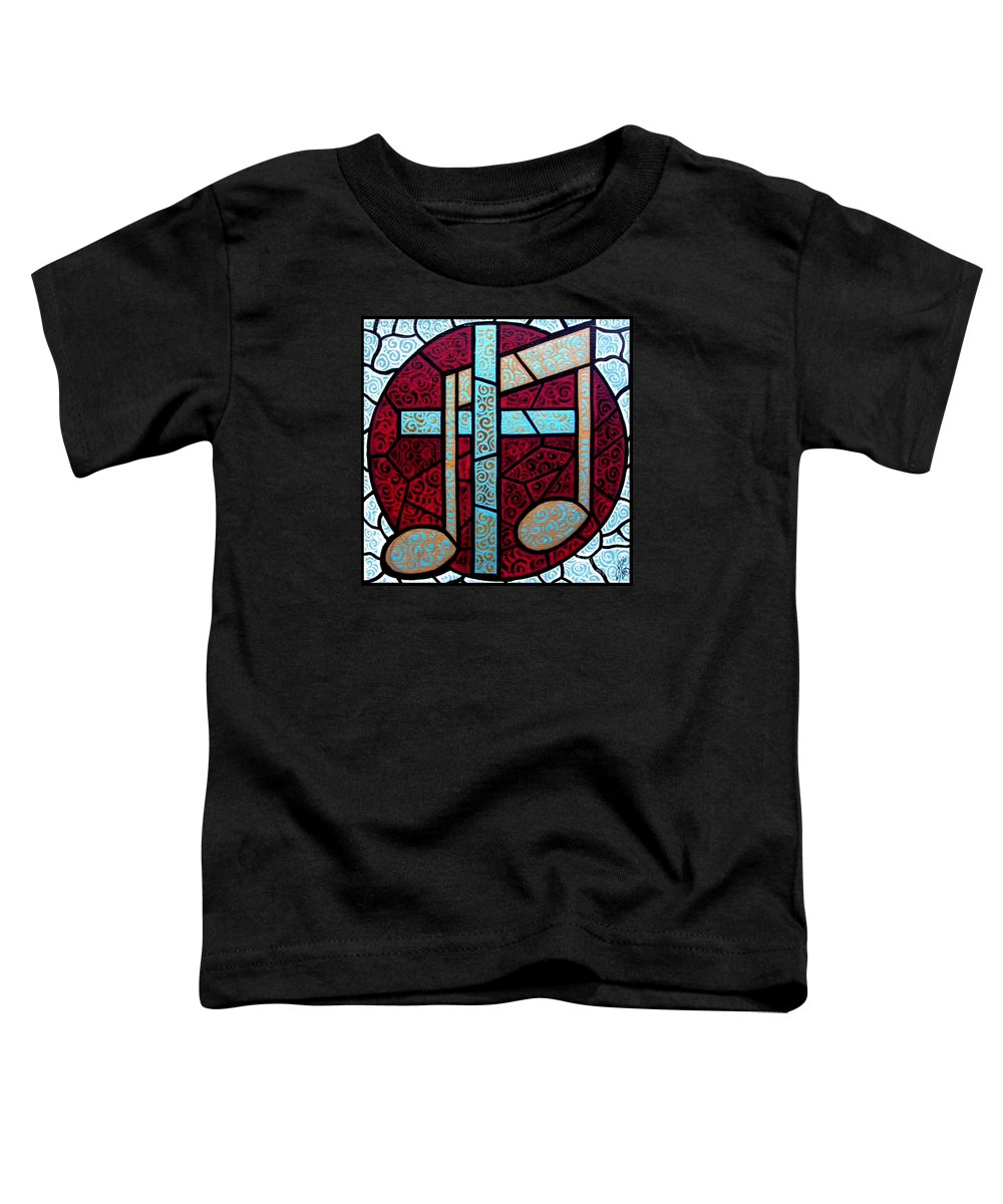 Cross Toddler T-Shirt featuring the painting Music Of The Cross by Jim Harris