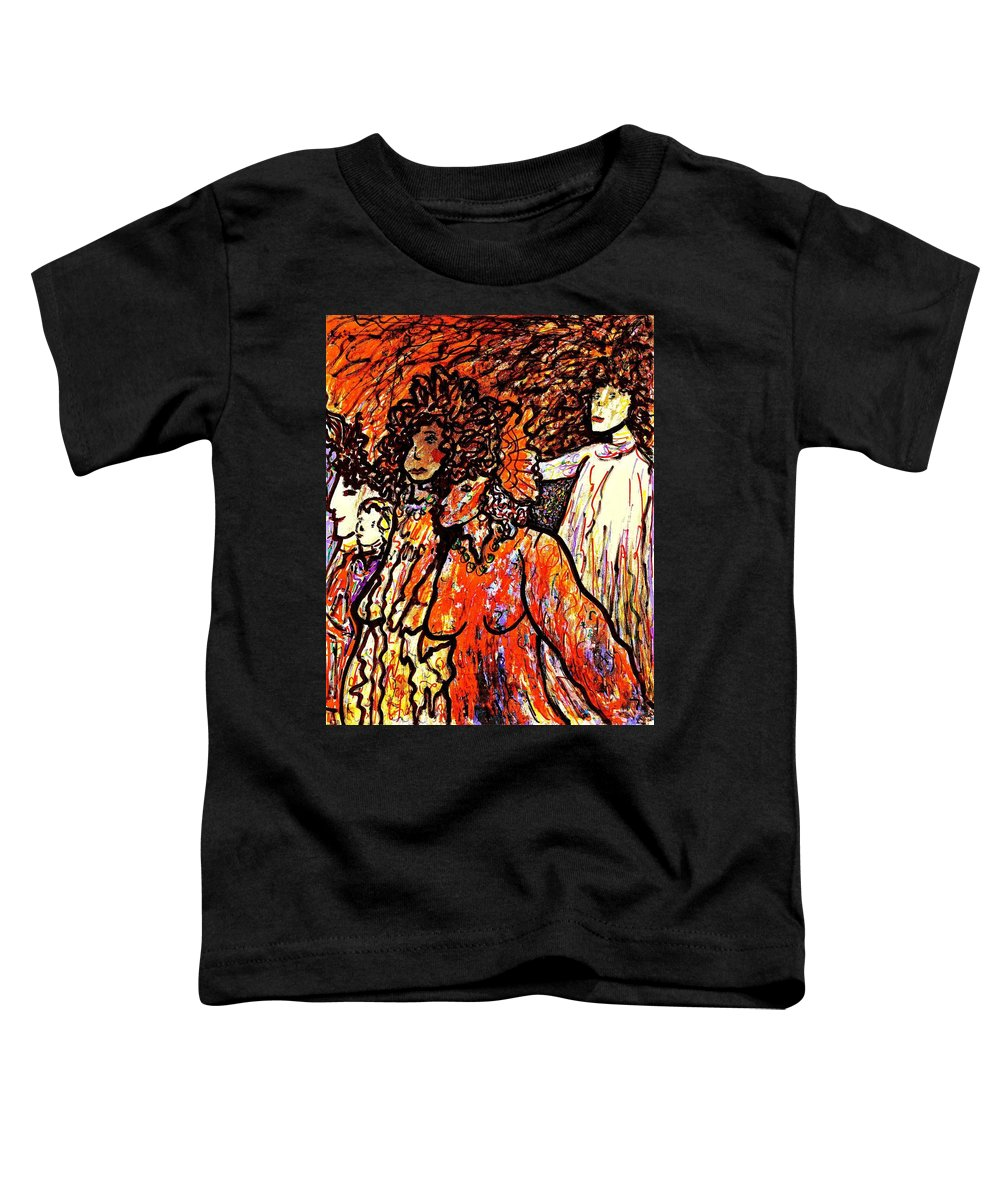 Figurative Art Toddler T-Shirt featuring the painting Musical Recital by Natalie Holland