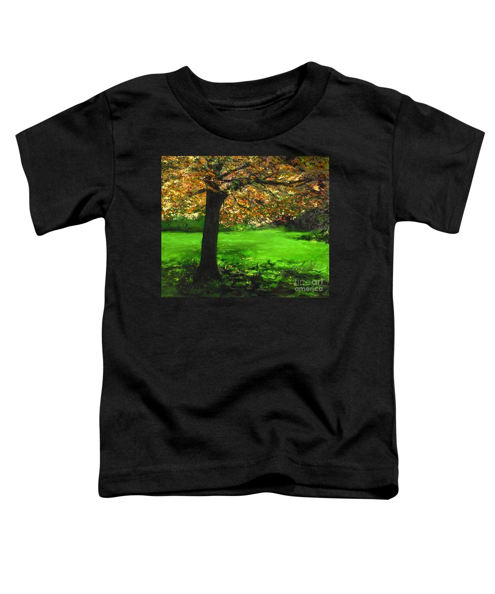 Spiritualism Toddler T-Shirt featuring the painting My Love Of Trees I by Lizzy Forrester