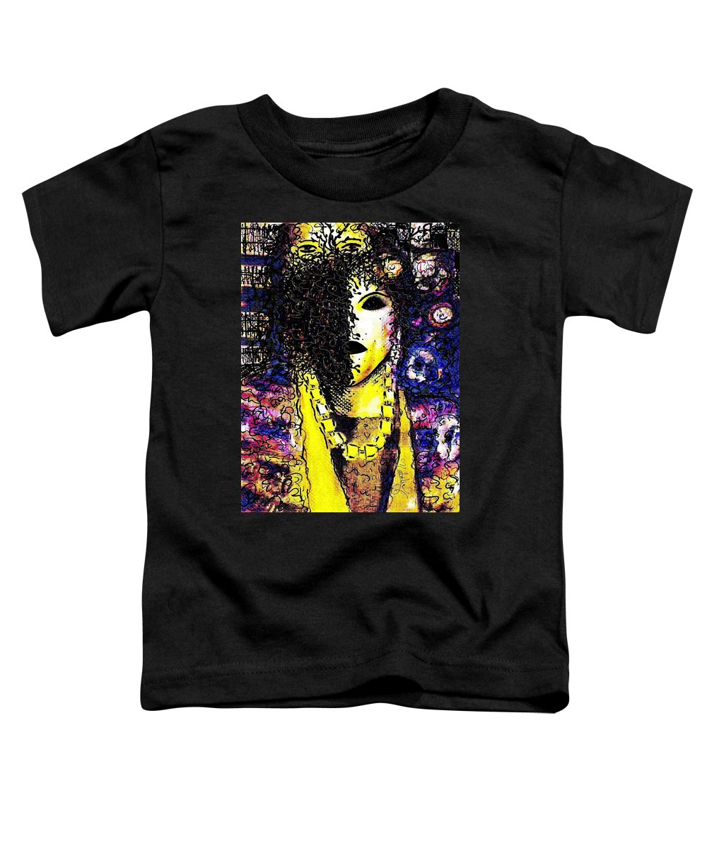 Woman Toddler T-Shirt featuring the painting Mysterious Encounter by Natalie Holland
