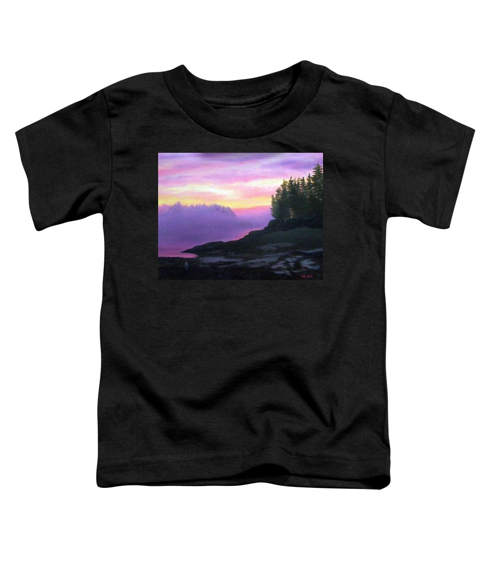Sunset Toddler T-Shirt featuring the painting Mystical Sunset by Sharon E Allen