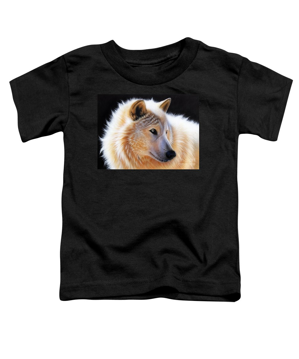 Acrylic Toddler T-Shirt featuring the painting Nala by Sandi Baker