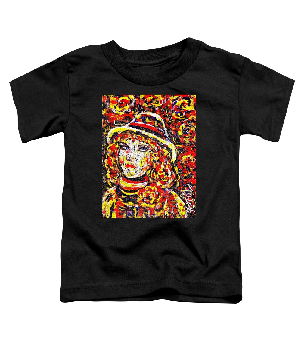 Woman Toddler T-Shirt featuring the painting Nat With The Hat by Natalie Holland