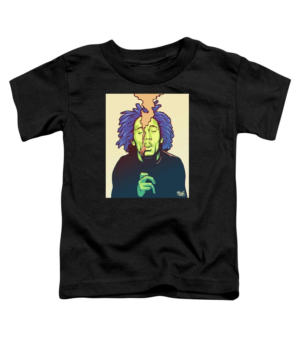 Bob Marley Toddler T-Shirt featuring the drawing Natural Mystic by Miggs The Artist