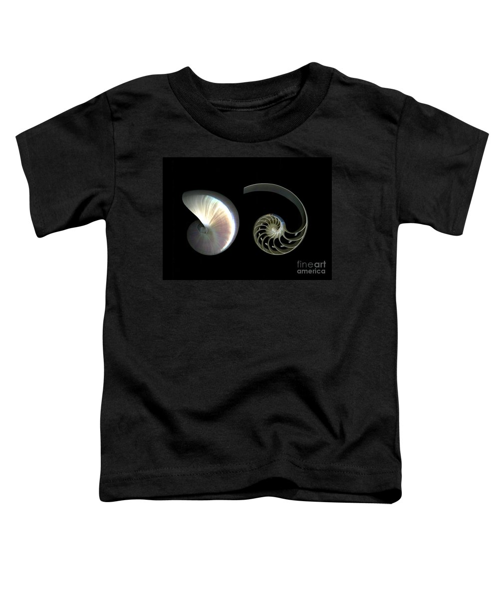 Nautilus Toddler T-Shirt featuring the photograph Nautilus Deconstructed by Christian Slanec