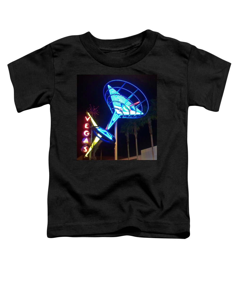 Vegas Toddler T-Shirt featuring the photograph Neon Signs 1 by Anita Burgermeister