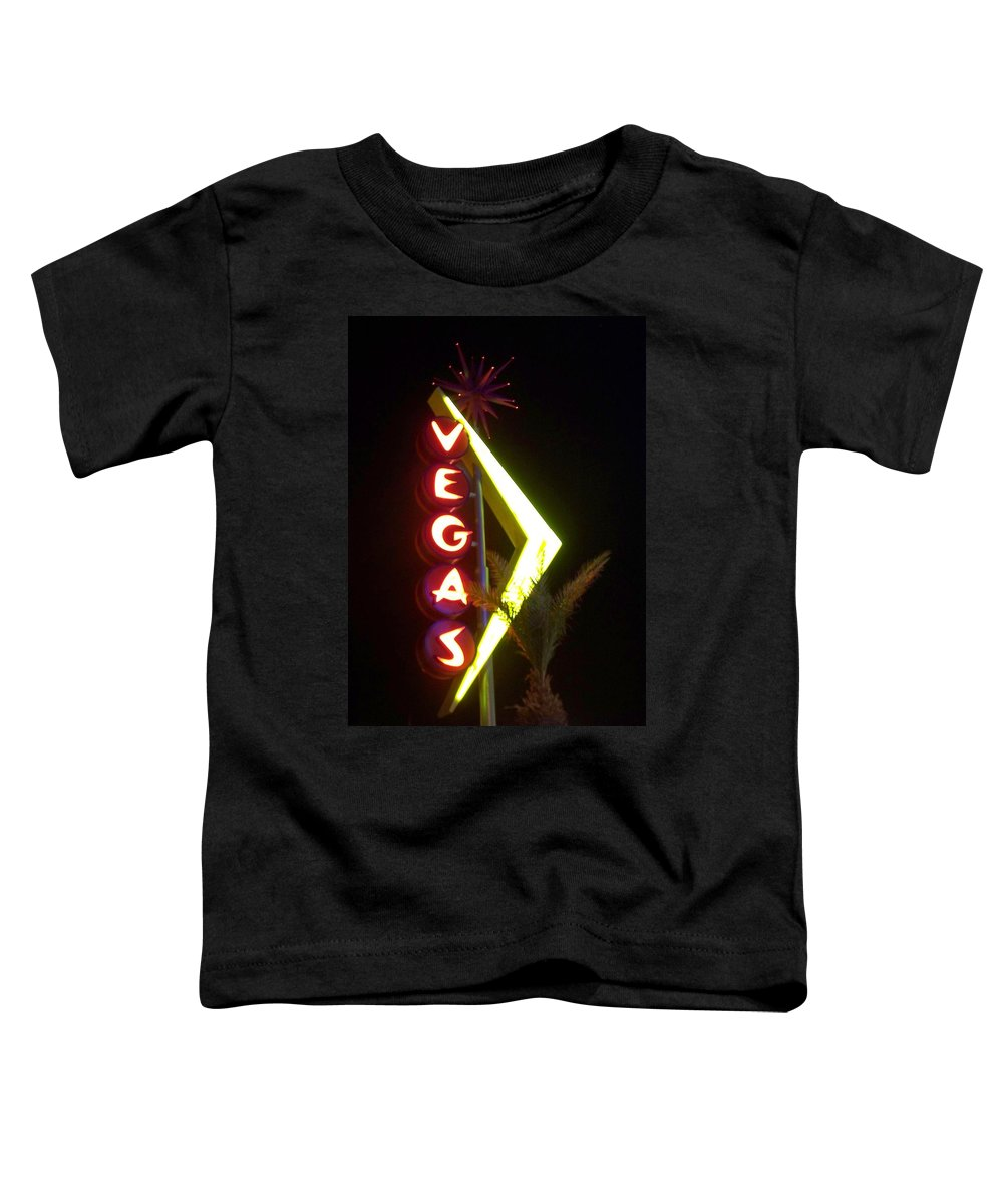 Fremont East Toddler T-Shirt featuring the photograph Neon Signs 2 by Anita Burgermeister