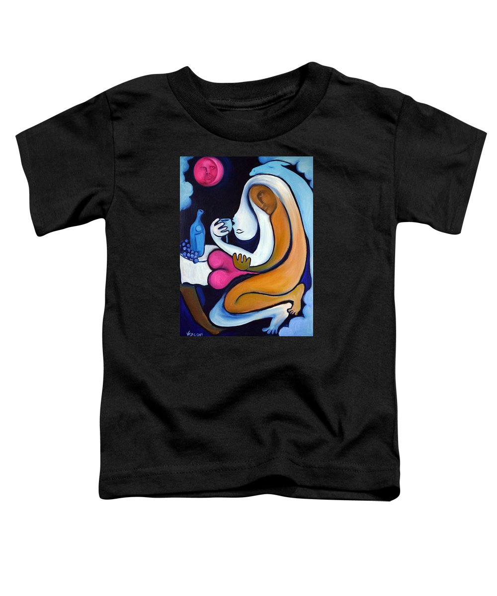 Abstract Toddler T-Shirt featuring the painting Never Tear Us Apart by Valerie Vescovi