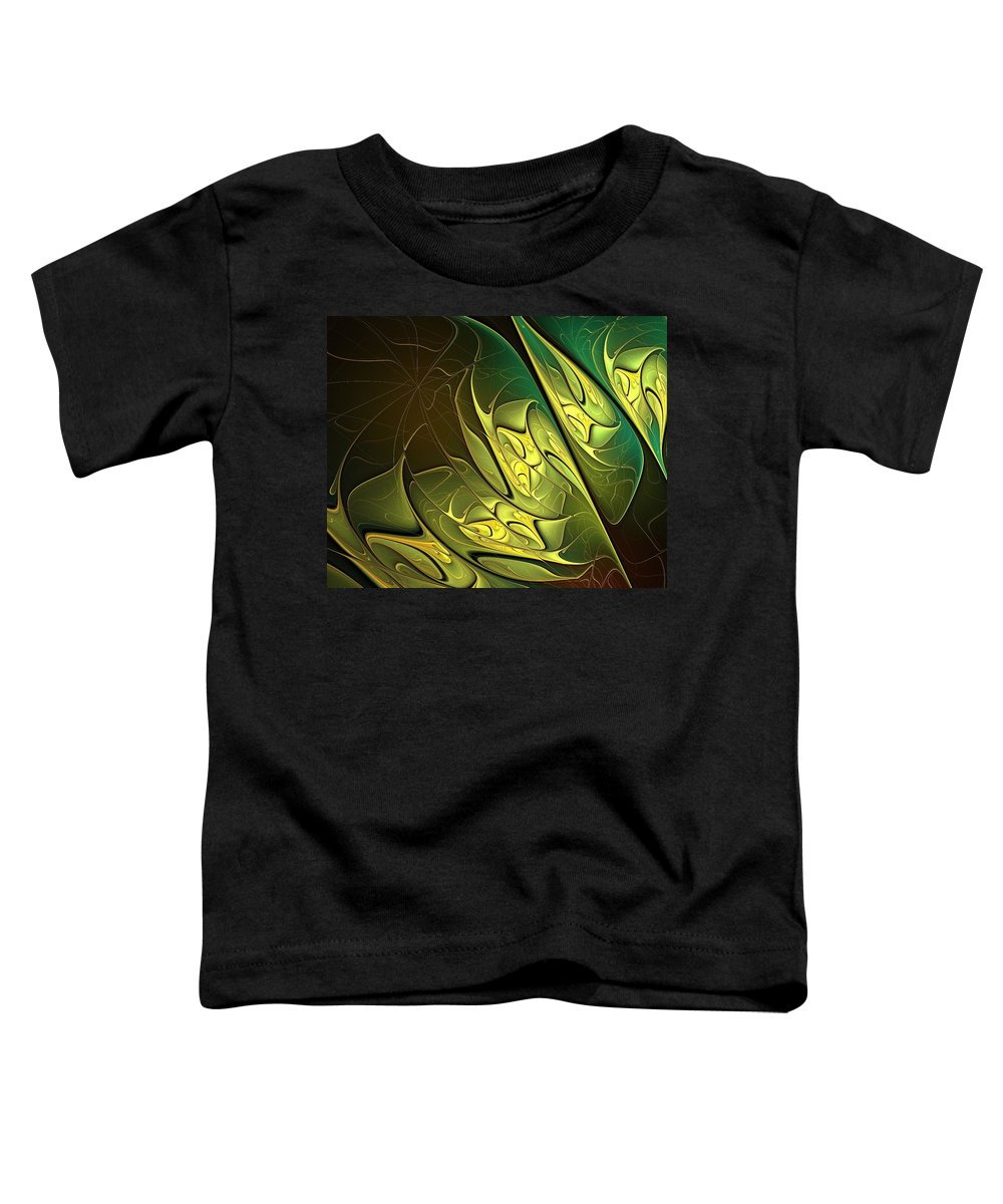 Digital Art Toddler T-Shirt featuring the digital art New Leaves by Amanda Moore