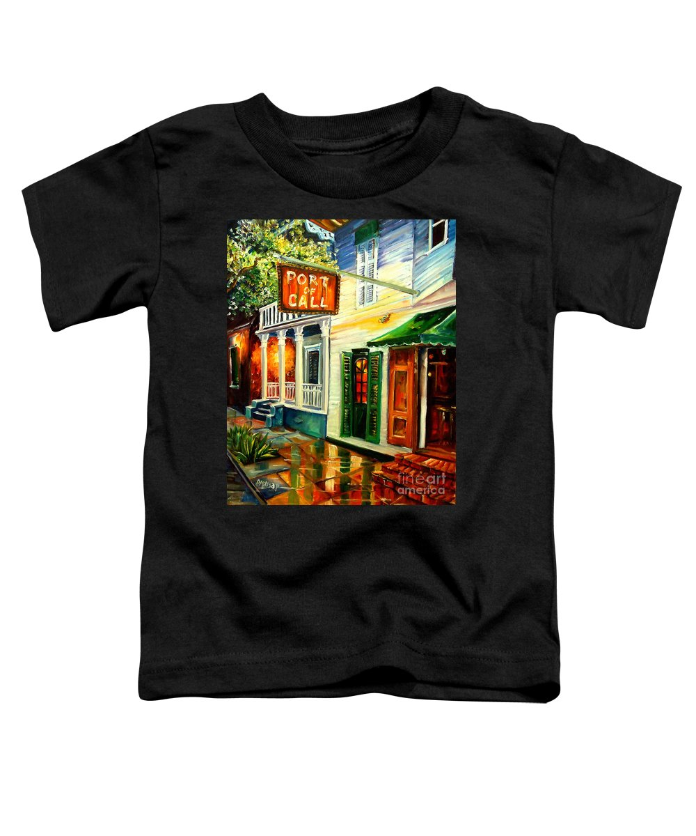 New Orleans Toddler T-Shirt featuring the painting New Orleans Port Of Call by Diane Millsap