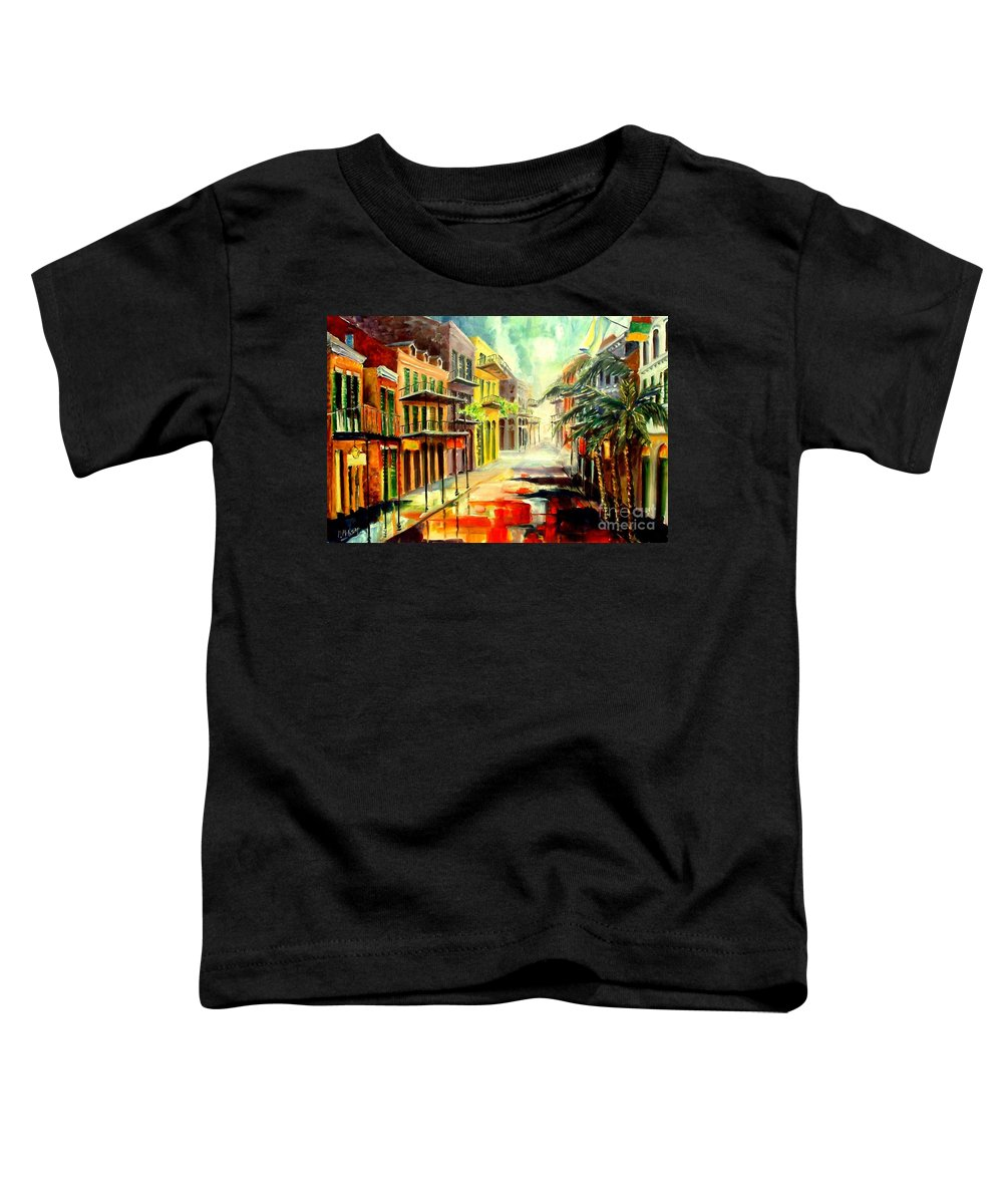 New Orleans Toddler T-Shirt featuring the painting New Orleans Summer Rain by Diane Millsap