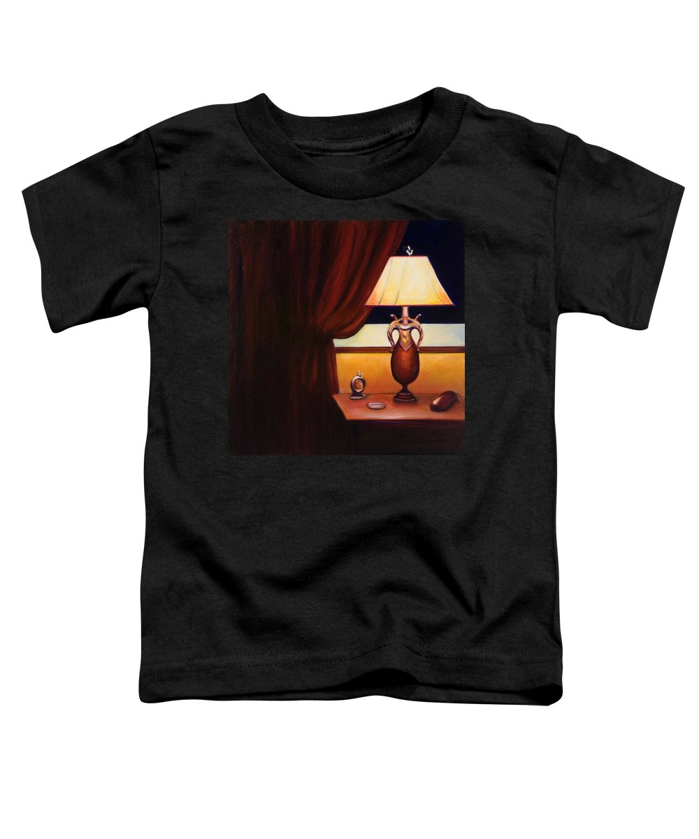 Still Life Red Toddler T-Shirt featuring the painting Night by Shannon Grissom