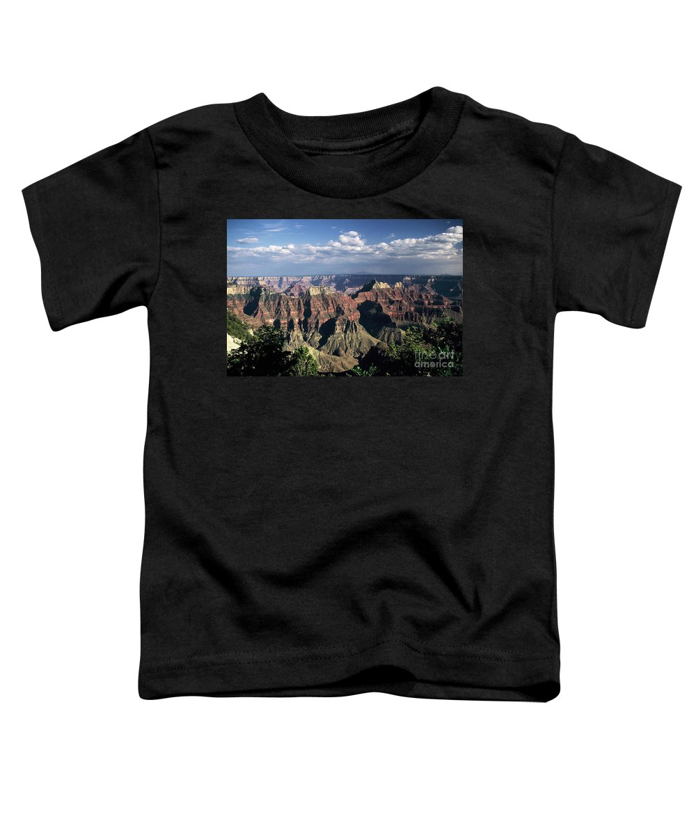 Grand Canyon; National Parks Toddler T-Shirt featuring the photograph North Rim by Kathy McClure