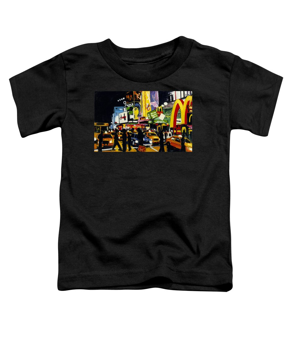 New York Toddler T-Shirt featuring the painting Nyc II The Temple Of M by Robert Reeves