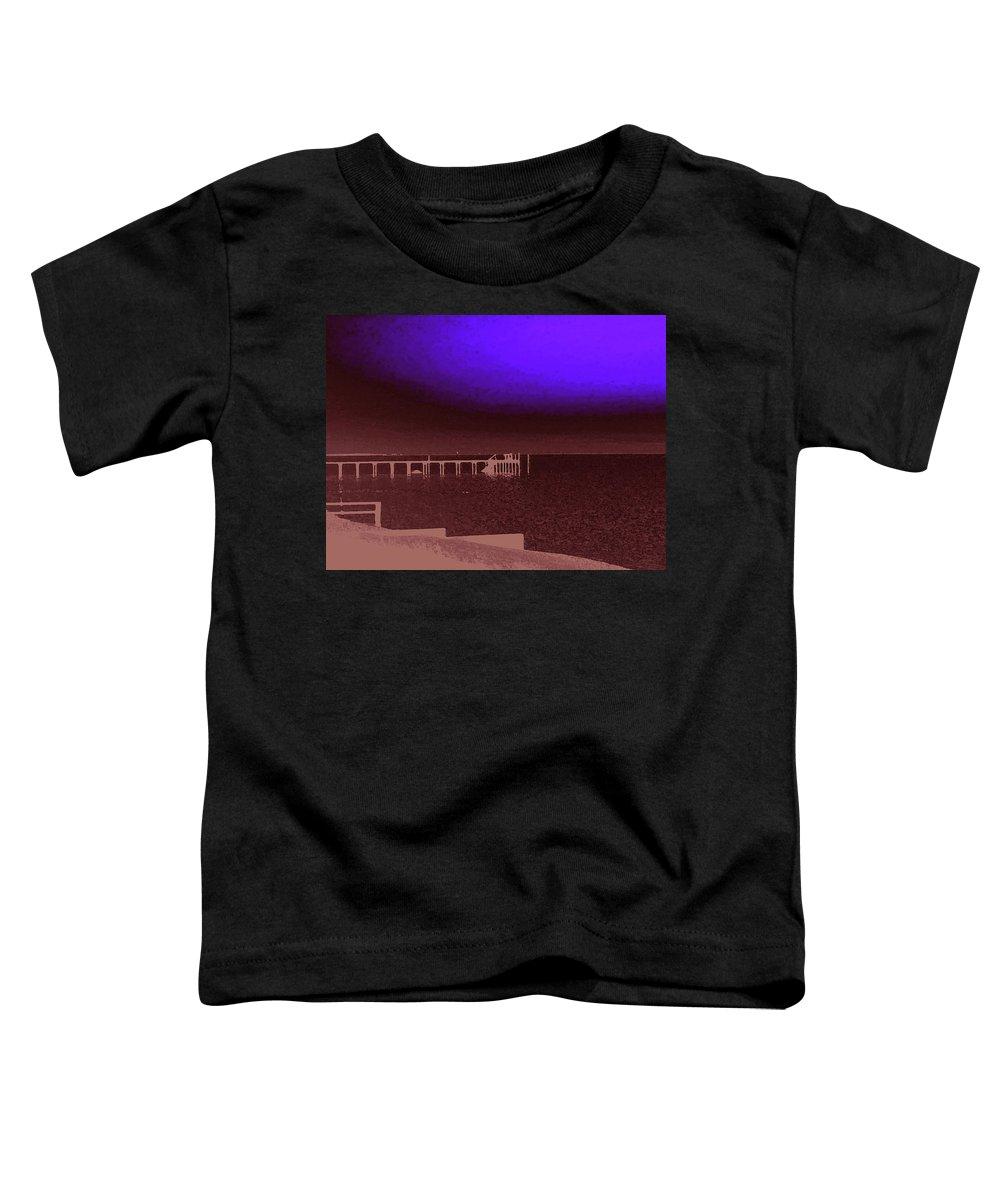 Ocracoke Toddler T-Shirt featuring the photograph Ocracoke Shoreline Pier by Wayne Potrafka