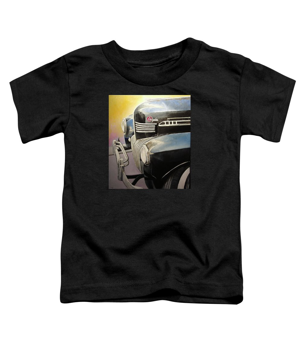 Old Toddler T-Shirt featuring the painting Old Chrysler by Tomas Castano