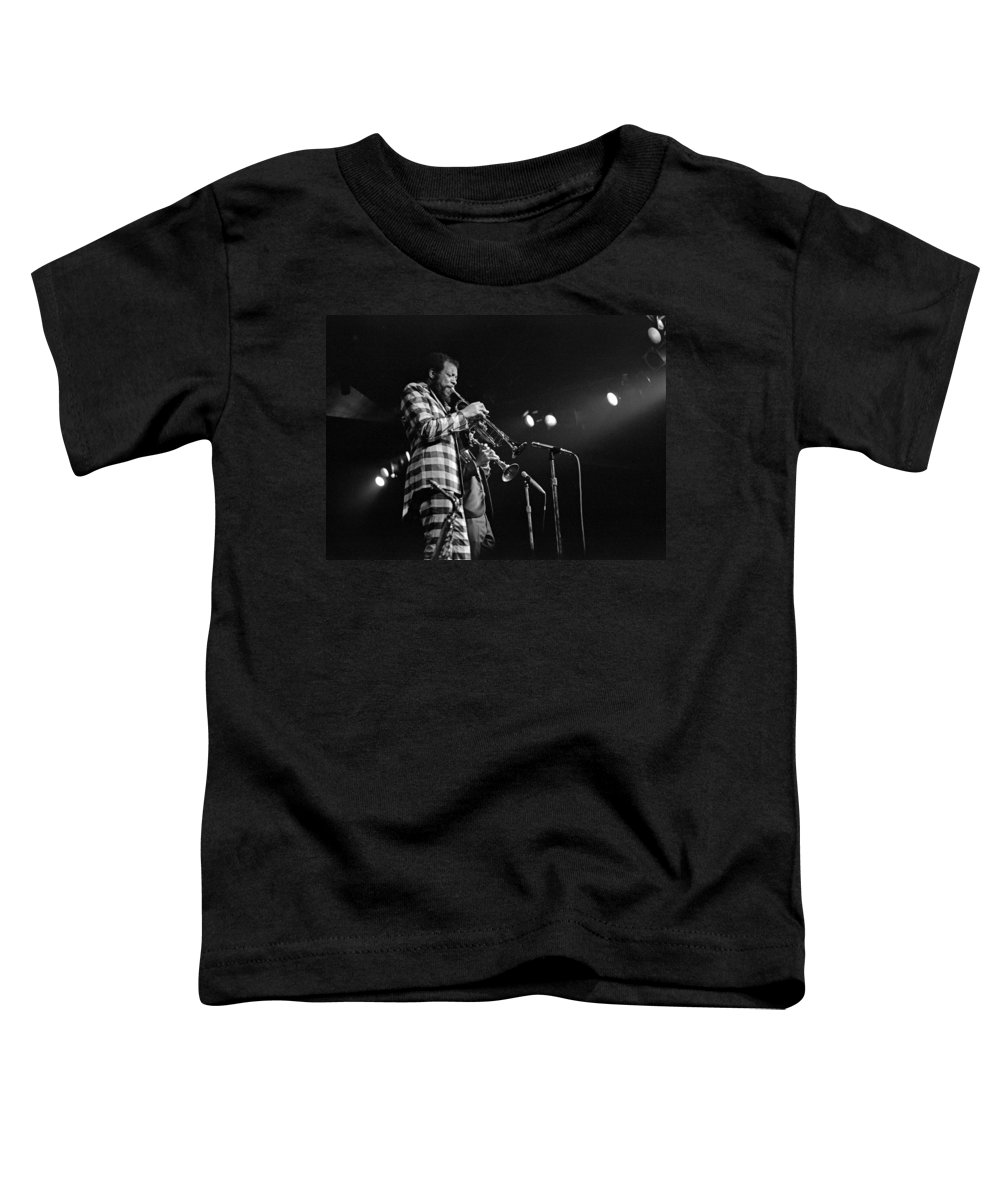 Ornette Colman Toddler T-Shirt featuring the photograph Ornette Coleman On Trumpet by Lee Santa