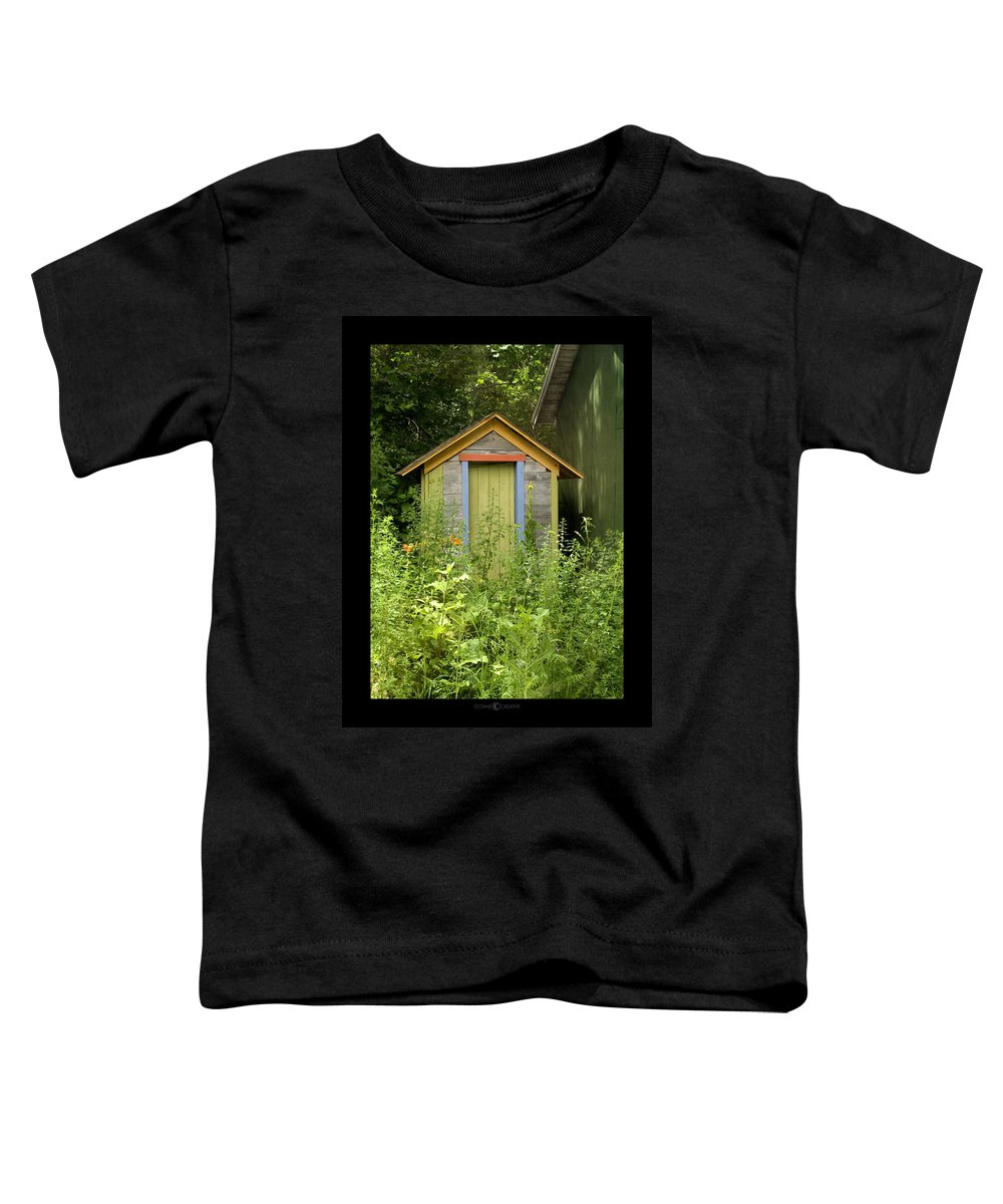 Outhouse Toddler T-Shirt featuring the photograph Outhouse by Tim Nyberg