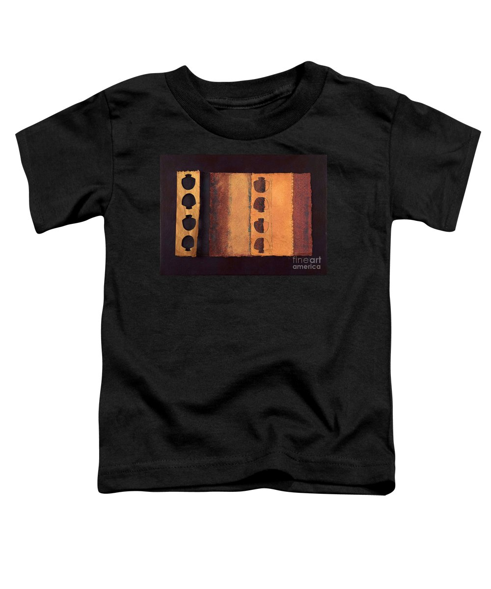 Pageformat Toddler T-Shirt featuring the mixed media Page Format No 3 Tansitional Series  by Kerryn Madsen-Pietsch