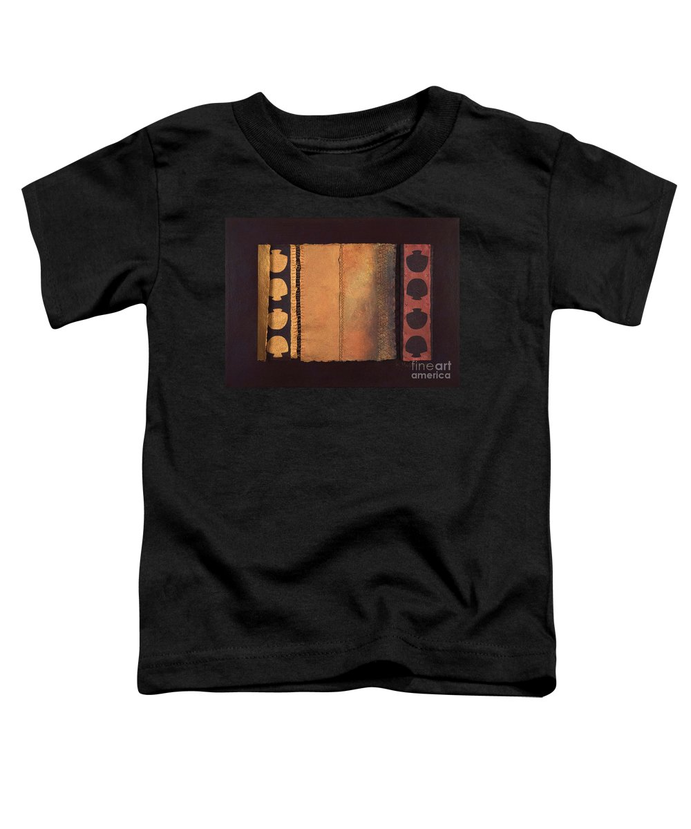 Artistbook Toddler T-Shirt featuring the painting Page Format No.4 Tansitional Series by Kerryn Madsen-Pietsch