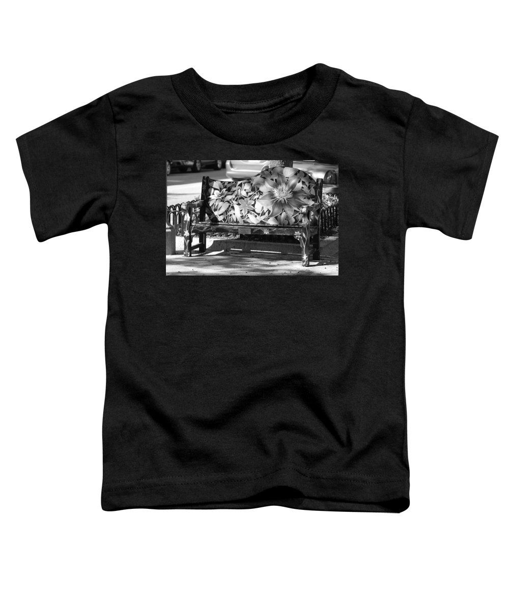 Pop Art Toddler T-Shirt featuring the photograph Painted Bench by Rob Hans