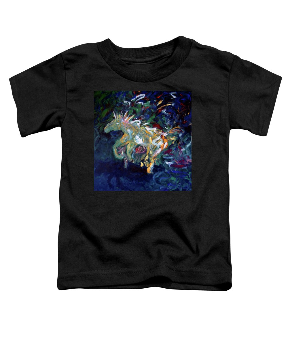 Abstract Horse Toddler T-Shirt featuring the painting Painted Pony by Lance Headlee