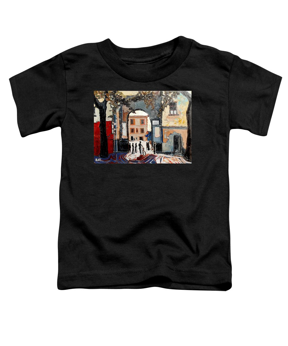 Tuscany Toddler T-Shirt featuring the painting Palazzo Vecchio by Kurt Hausmann