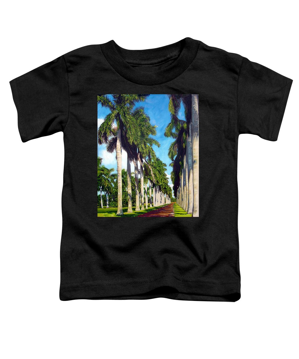 Palms Toddler T-Shirt featuring the painting Palms by Jose Manuel Abraham