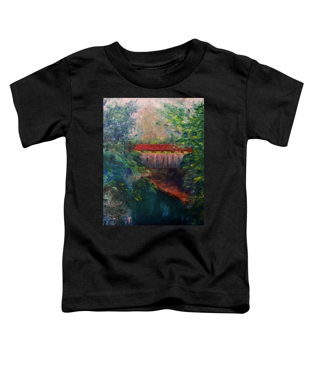 Landscape Toddler T-Shirt featuring the painting Parke County by Stephen King