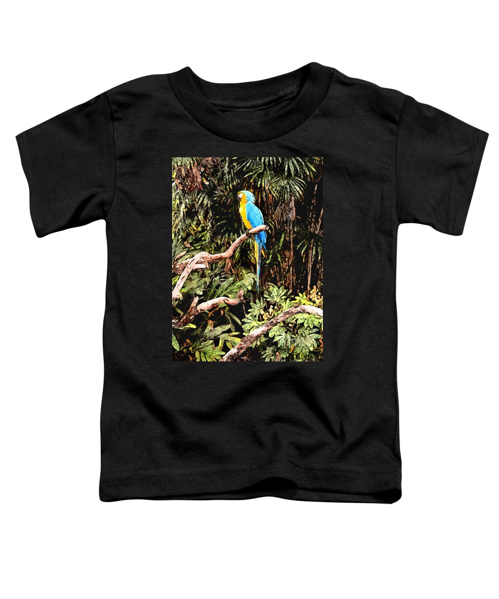 Parrot Toddler T-Shirt featuring the photograph Parrot by Steve Karol