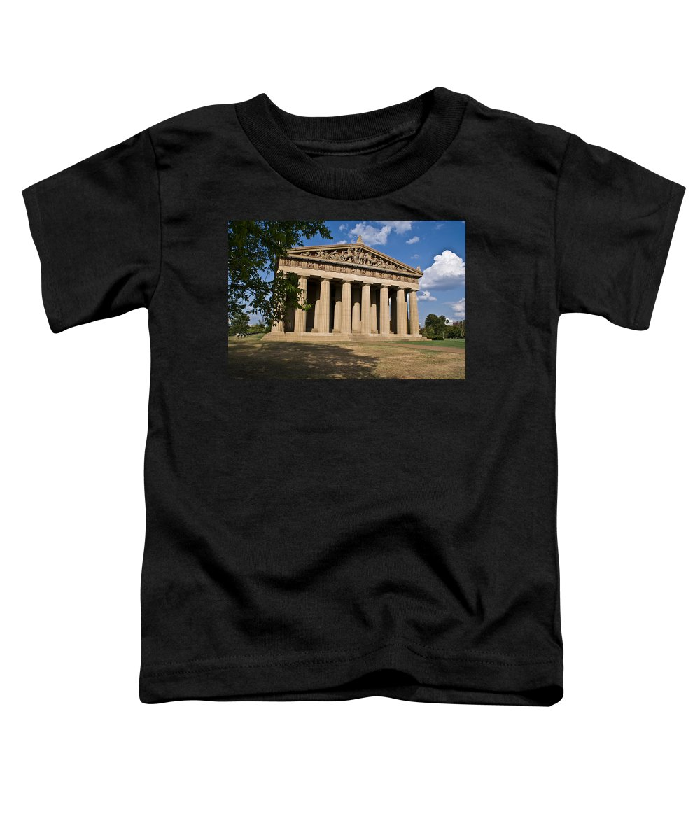 Parthenon Toddler T-Shirt featuring the photograph Parthenon Nashville Tennessee by Douglas Barnett