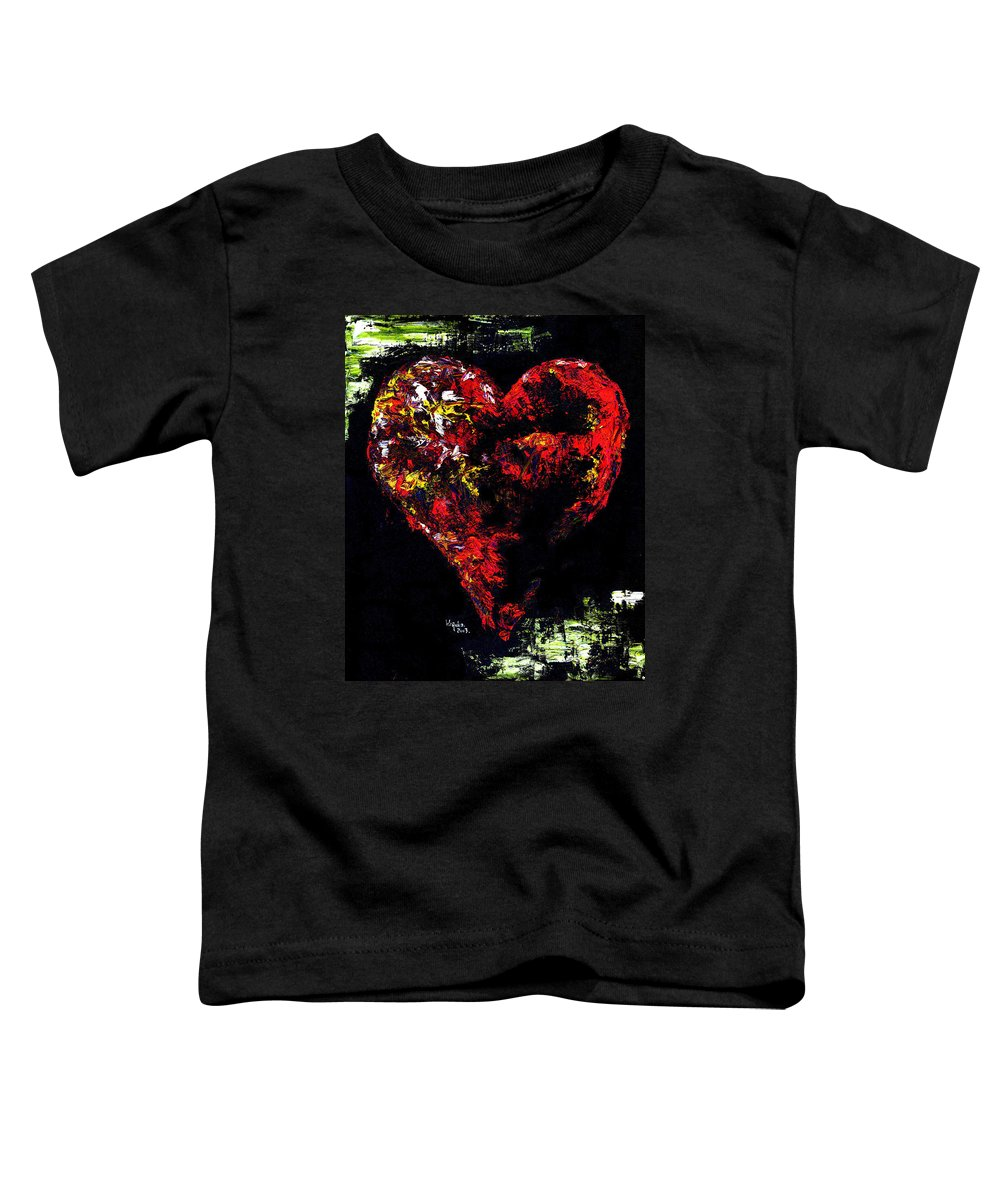 Heart Toddler T-Shirt featuring the painting Passion by Hiroko Sakai