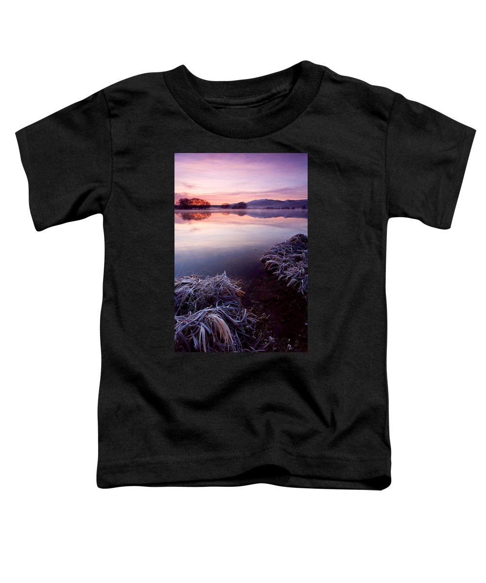 Lake Toddler T-Shirt featuring the photograph Pastel Dawn by Mike Dawson