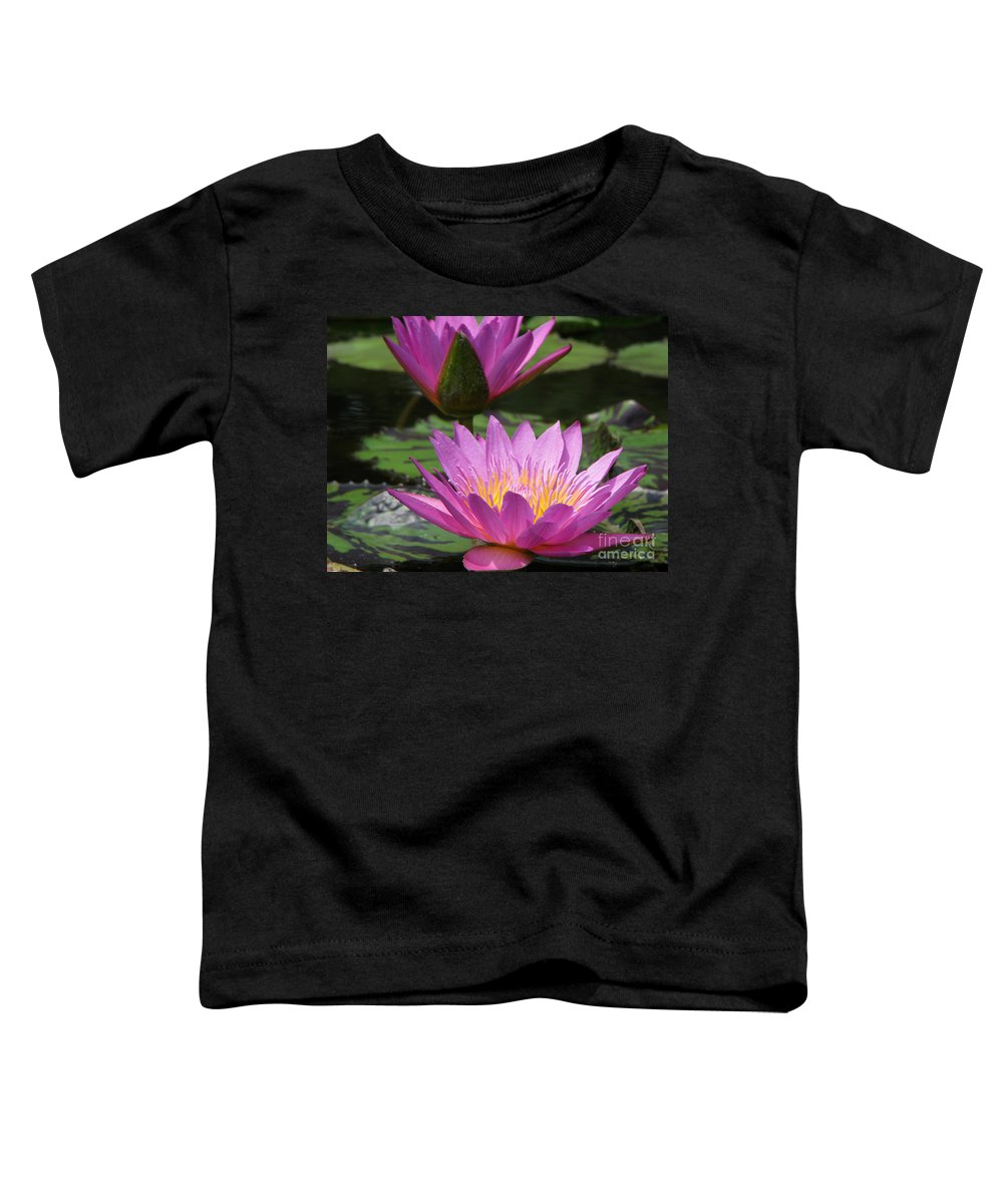 Lillypad Toddler T-Shirt featuring the photograph Peaceful by Amanda Barcon