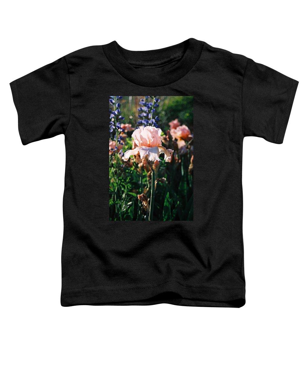 Flower Toddler T-Shirt featuring the photograph Peach Iris by Steve Karol