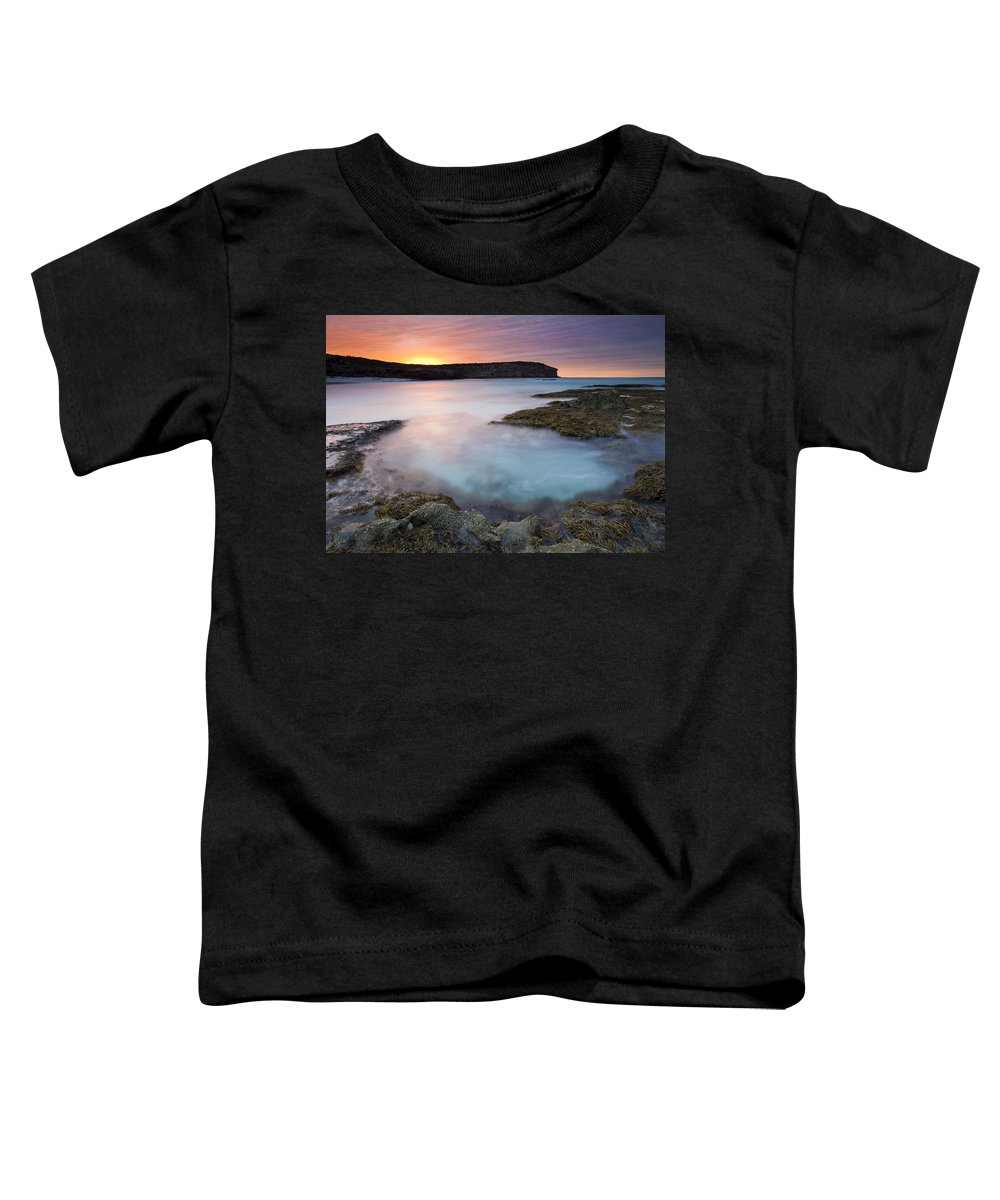 Dawn Toddler T-Shirt featuring the photograph Pennington Dawn by Mike Dawson
