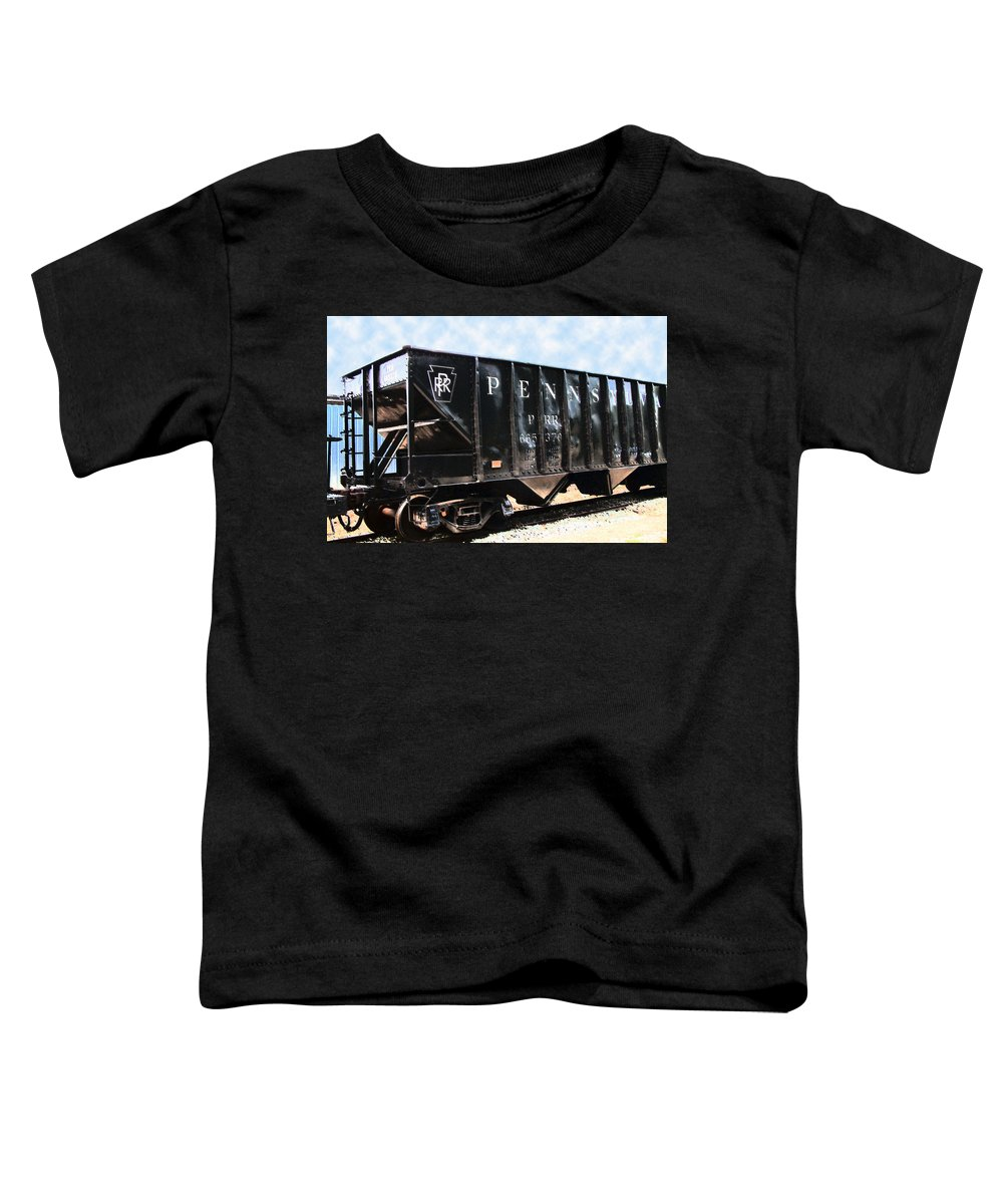 Trains Toddler T-Shirt featuring the photograph Pennsylvania Hopper by RC DeWinter