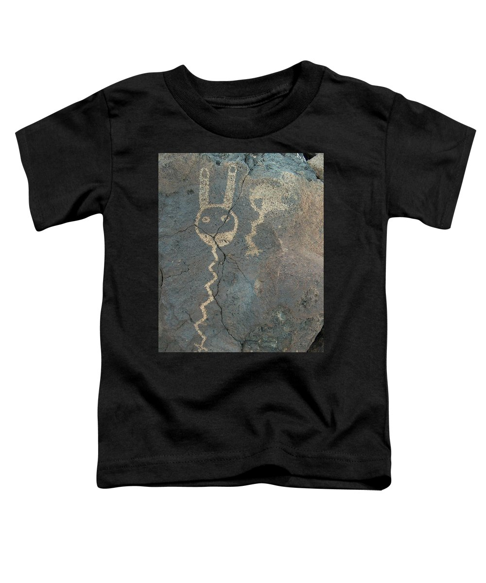 Petroglyph Toddler T-Shirt featuring the photograph Petroglyph Series 1 by Tim McCarthy