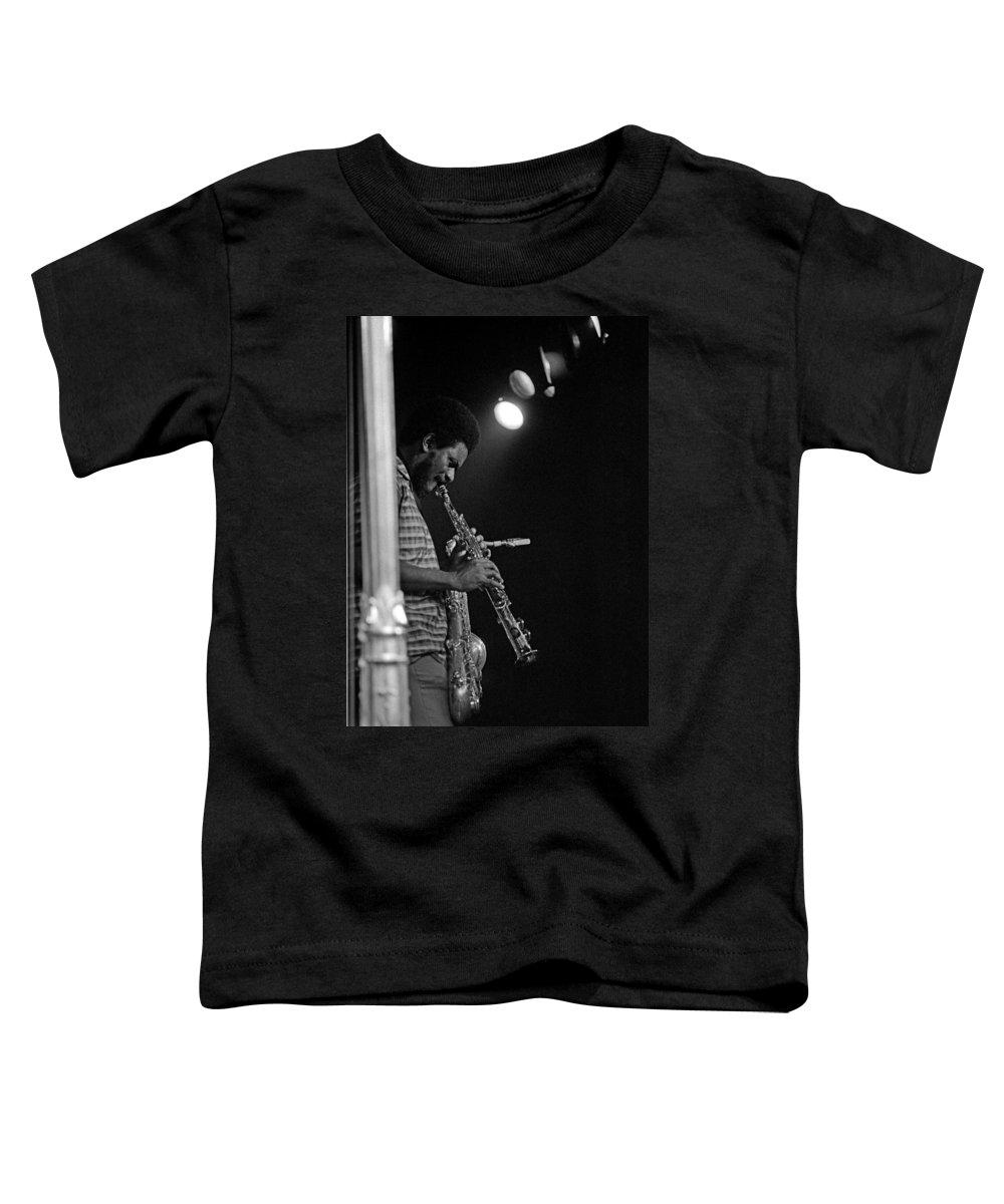 Pharoah Sanders Toddler T-Shirt featuring the photograph Pharoah Sanders 1 by Lee Santa