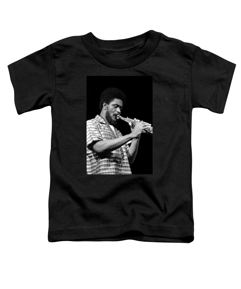 Pharoah Sanders Toddler T-Shirt featuring the photograph Pharoah Sanders 3 by Lee Santa
