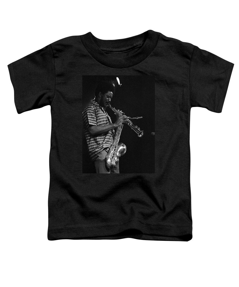 Pharoah Sanders Toddler T-Shirt featuring the photograph Pharoah Sanders 4 by Lee Santa