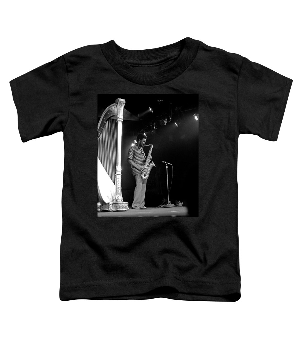Pharoah Sanders Toddler T-Shirt featuring the photograph Pharoah Sanders 5 by Lee Santa