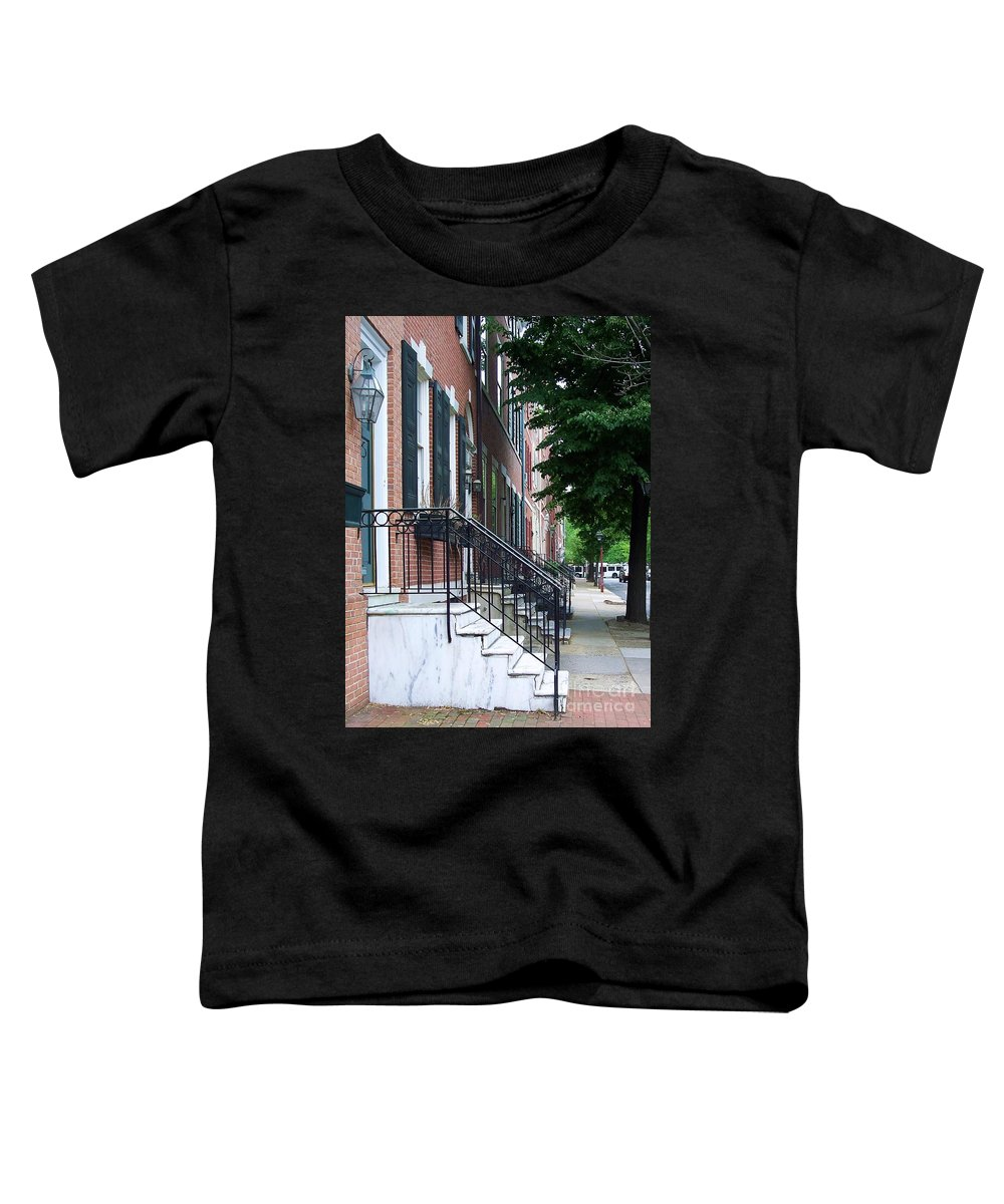 Architecture Toddler T-Shirt featuring the photograph Philadelphia Neighborhood by Debbi Granruth