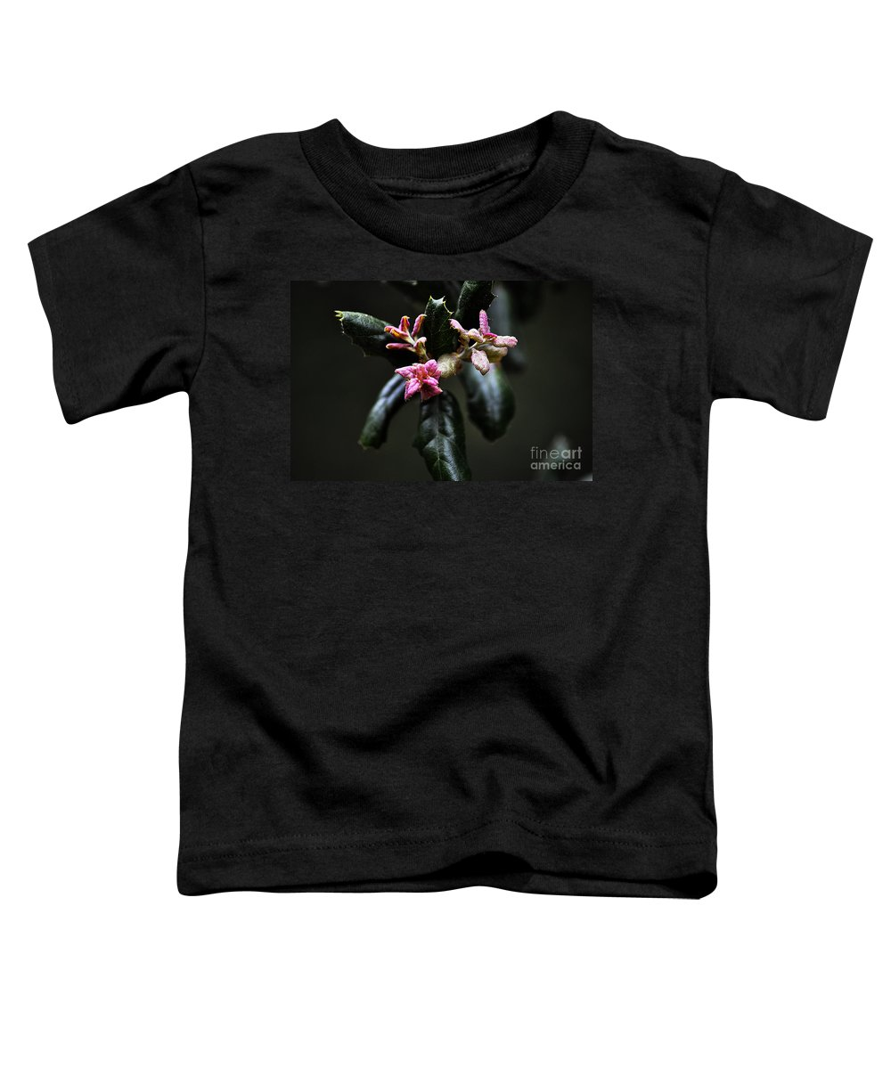 Clay Toddler T-Shirt featuring the photograph Pink Bud by Clayton Bruster
