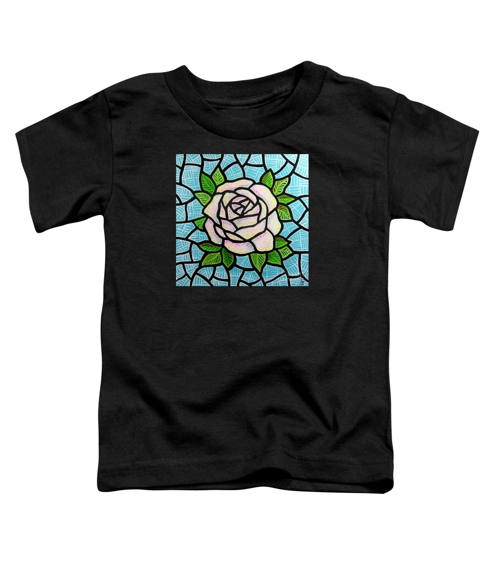 Rose Toddler T-Shirt featuring the painting Pinkish Rose by Jim Harris