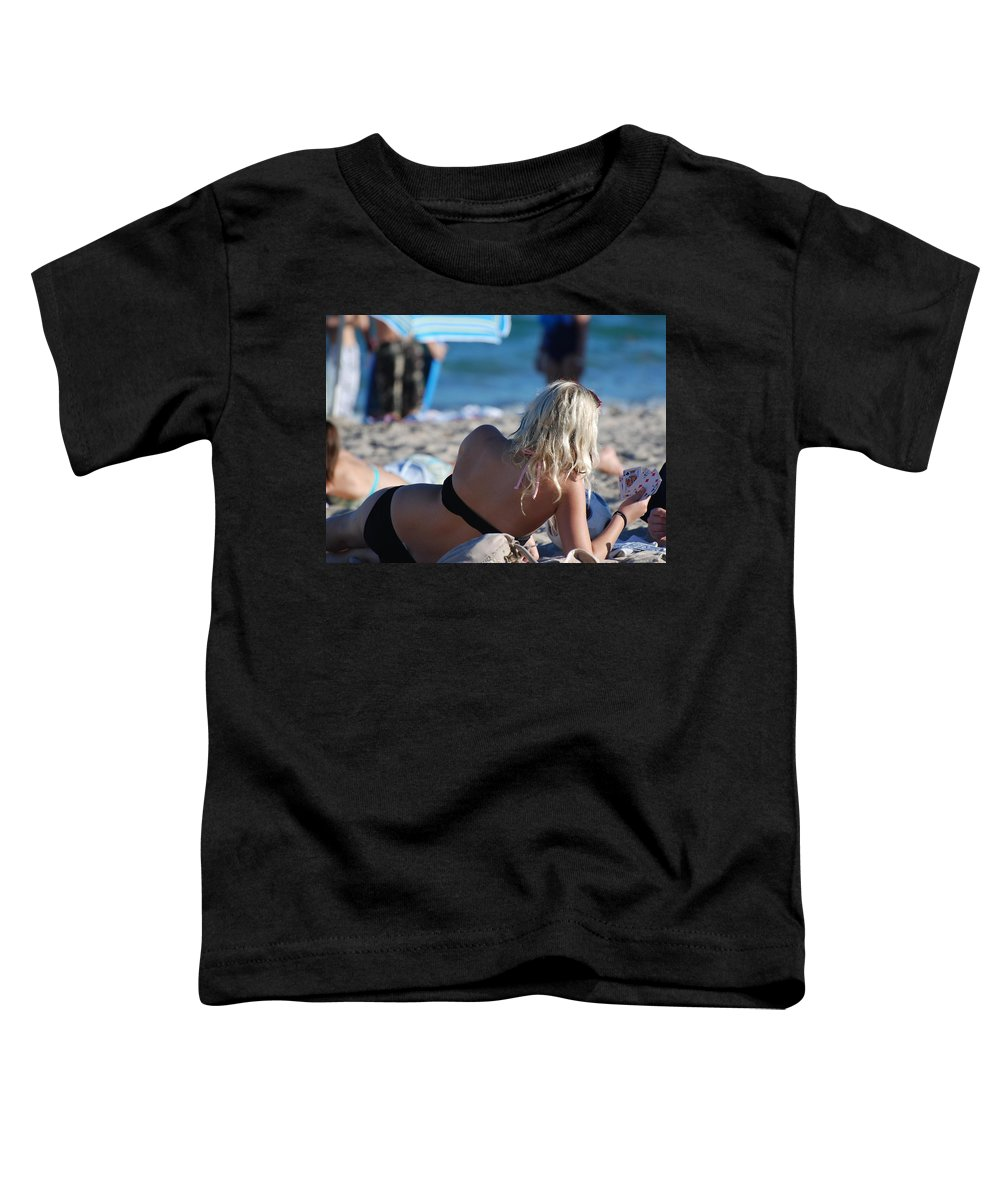 Cards Toddler T-Shirt featuring the photograph Poker At The Beach by Rob Hans