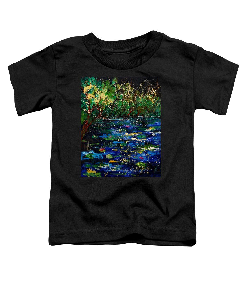 Water Toddler T-Shirt featuring the painting Pond 459030 by Pol Ledent