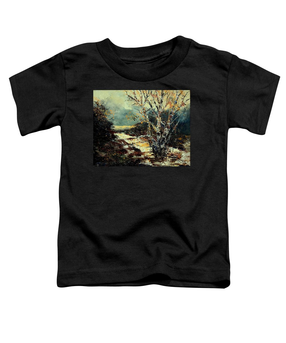 Tree Toddler T-Shirt featuring the painting Poplars 45 by Pol Ledent