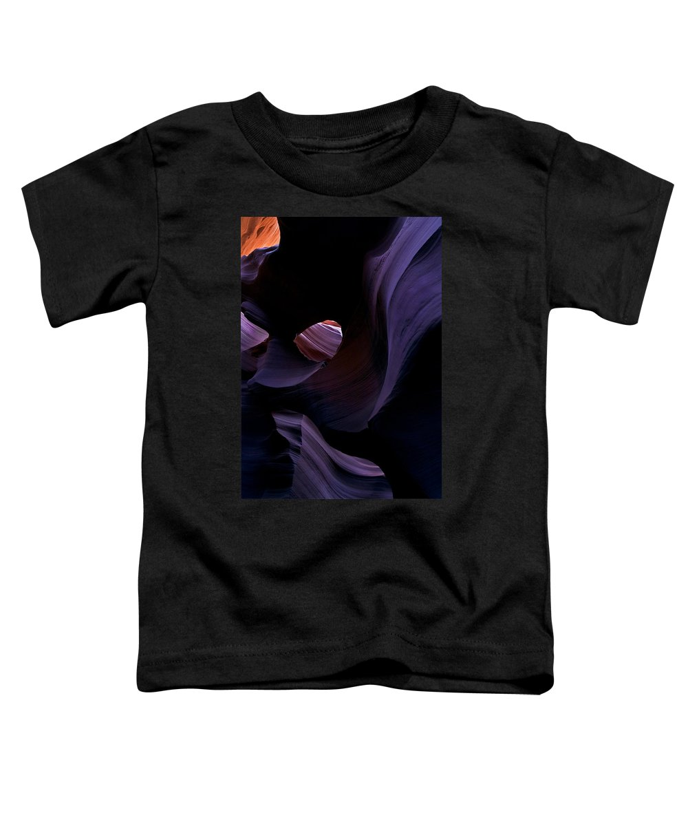 Desert Toddler T-Shirt featuring the photograph Portal by Mike Dawson